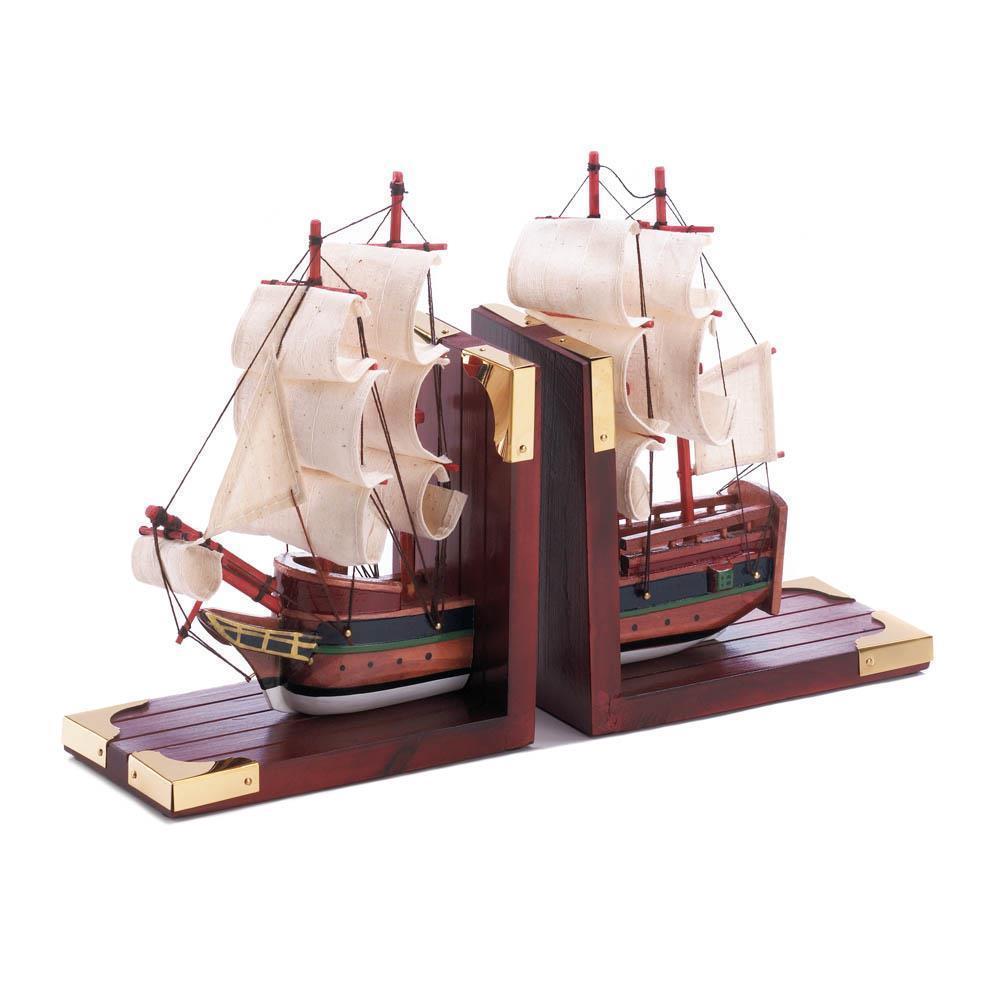 Sailing Schooner Bookends  D1297   SMC