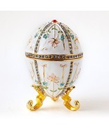 Apropos Hand- Painted Vintage Style Floral Faberge Egg with Rich Enamel ... - $21.49