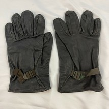 US GI Black Leather Gloves Shell Military Light Duty Size 3 - $29.69