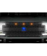 Steel Grille for Ford Super Duty F250,F350,F450 17-19 Spartan Blue Amber... - $989.95