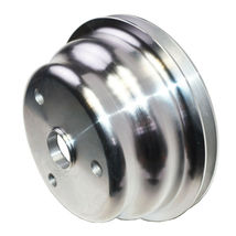 Chevy SB 262 350 400 Long Water Pump Single-Groove Aluminum Crankshaft Pulley image 9