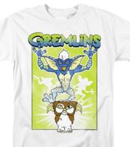 Gremlins  Mogwai T-shirt retro 80s movie distressed  graphic cotton white tee image 1