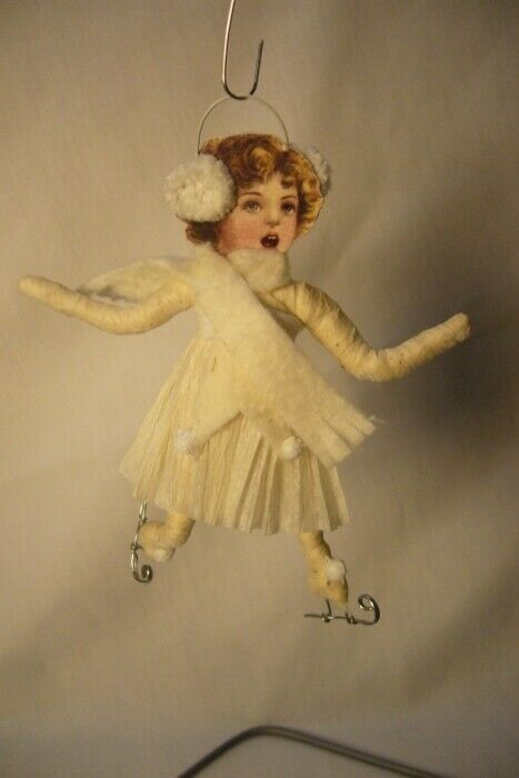 Vintage Inspired Spun Cotton, Ice Skater, no. 129