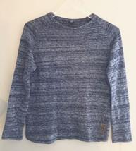 Zara Kids Long Sleeve Sweater Tweed Print Blue White Girls 13-14 - $18.49