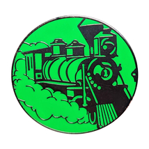 Park Icons Disney Lapel Pin: Green + Silver Train - $7.90