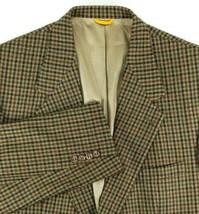 Bill Blass Black Label Sport Coat Mens Size 44 Regular Brown Plaid 100% ... - $35.60