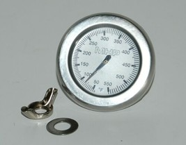 Modern Home Products TG4B Stainless Steel Round Heat Indicator with Bezel image 1