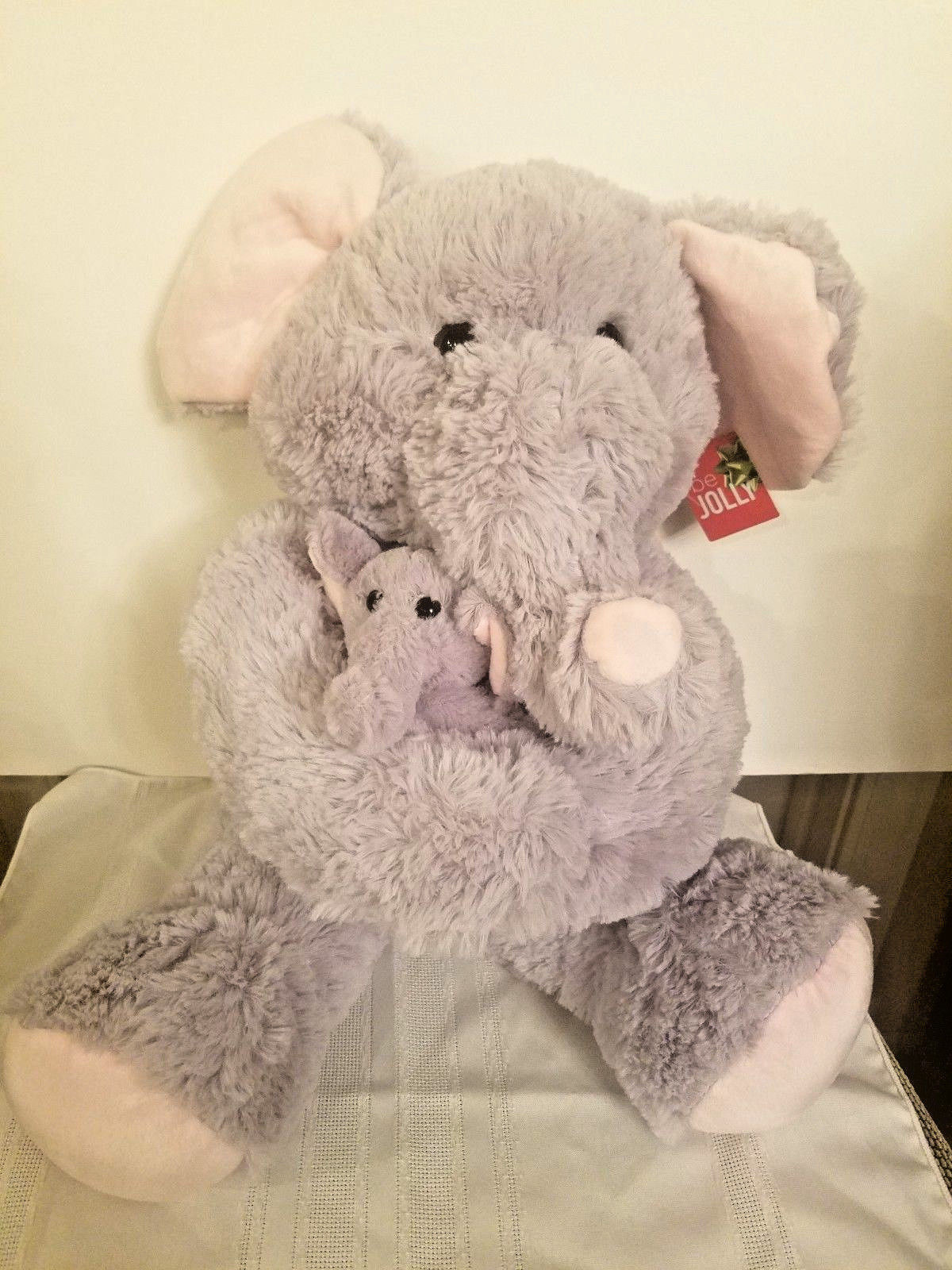 Blue Big Teddy Bear, Hugfun 19 Jumbo Plush Elephant And Baby And 50 Similar Items