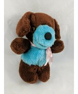"Russ Biscuit Dog Plush Puppy Brown Blue 7"" 1977 Stuffed Animal - $26.95"