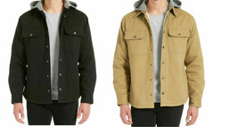 Jachs Men's Sherpa Lined Canvas Shirt Jacket - $34.99