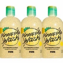 3 Pc Victoria's Secret PINK Scrubby Gel with Pineapple Extract Body Wash... - $37.39