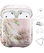 Maxjoy AirPods Case Cover, 5 in 1 Cute Marble Airpod 2 &1 Protective Har... - $14.57