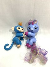 WowWee Fingerling Stella Baby Blue Pink Unicorn Monkey Boris Interactive Set Lot - $14.84