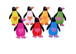50Pcs Cute Penguins Wooden Push Pins Decorative Board Tacks Utility Icons