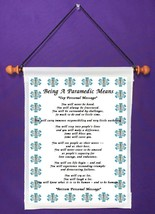 Being A Paramedic Means - Personalized Wall Hanging (218-1) - $18.99
