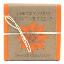 Goat Milk Soap Orange & Cinnamon Chicory Farm Natural Handmade Essential... - $8.99