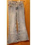 Blue Jeans size 7 GIRLS 22x22 FLARE 100% COTTON by MUDD - $1.95