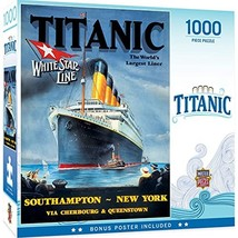 MasterPieces 1000 Piece Jigsaw Puzzle for Adult, Family, Or Kids - Titanic White - $10.71