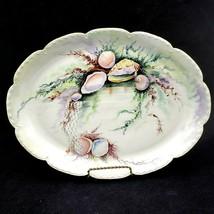 Vintage Haviland France Hand Painted SEASHELLS 16 inch Platter Tray - $239.95