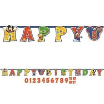 Mickey Mouse Clubhouse Jumbo Add An Age Banner Happy Birthday Party - $8.70