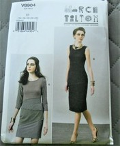 Pattern Vogue Designer Dress Close Fitting Pullover March Tilton V8904 U... - $19.78