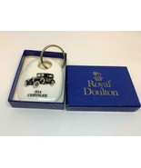 Vintage Promo Keyring CHRYSLER 1924 Keychain BONE CHINA Porte-Clés ROYAL... - $13.34
