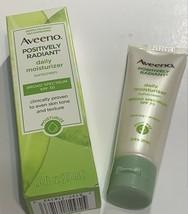 Aveeno Positively Radiant Daily Moisturizer Sunscreen SPF 30 ~1 oz~ Exp ... - $8.91