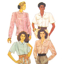 1980s Vintage McCalls Sewing Pattern 3914 Misses Blouse Shirt Top 10 12 ... - $6.95