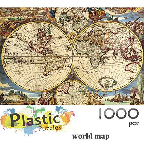 Ingooood - Jigsaw Puzzle 1000 Pieces- World Map-IG-0507- Entertainment Recyclabl