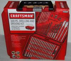 Craftsman 100 Pc Drilling Driving Bit Accessory Kit 931639 ACM1001 Case ... - $41.24