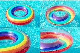 """Swim About Adult Giant Big Large Rainbow Swim Ring Tube 47"""" 120cm image 2"""