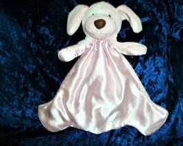 Gund Baby Spunky Huggybuddy Pink Security Blanket Blankie Satin Puppy Dog 58966 - $15.83