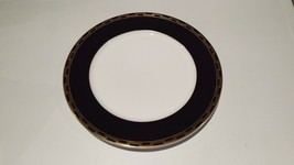 Tiffany Limoges Charger Dinner Plate - Hampton Pattern  - Black with Gol... - $9.90
