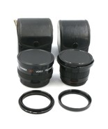 Pair of LOMEX Video Camera Lenses, Japan. Telephoto 2x, Macro Wide 0.42x - $24.70