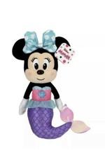 "Disney Junior Minnie Mouse Mermaid 9"" Bean Plush Doll With Polka Dot Bow... - $14.17"