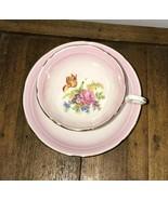 Royal Grafton Fine Bone China England Pink Rose Floral Cup n Saucer 6834 - $29.69