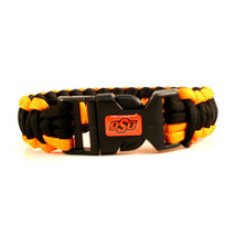 "NCAA Oklahoma State Cowboys Survival Bracelet Paracord 9"" Outdoor Surviv... - $8.86"