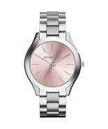 Michael Kors MK3380 Runway Pink Dial and Silver Women's Watch - $119.90