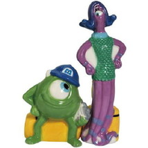 Disney Monsters Inc Mike and Celia Ceramic Salt and Pepper Shakers Set S... - $24.18