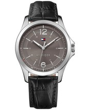 Men's Essential Black Leather Strap Watch 42mm 1791376 - $69.95