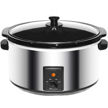 Brentwood 8.0 Quart Slow Cooker Stainless Steel - £47.69 GBP