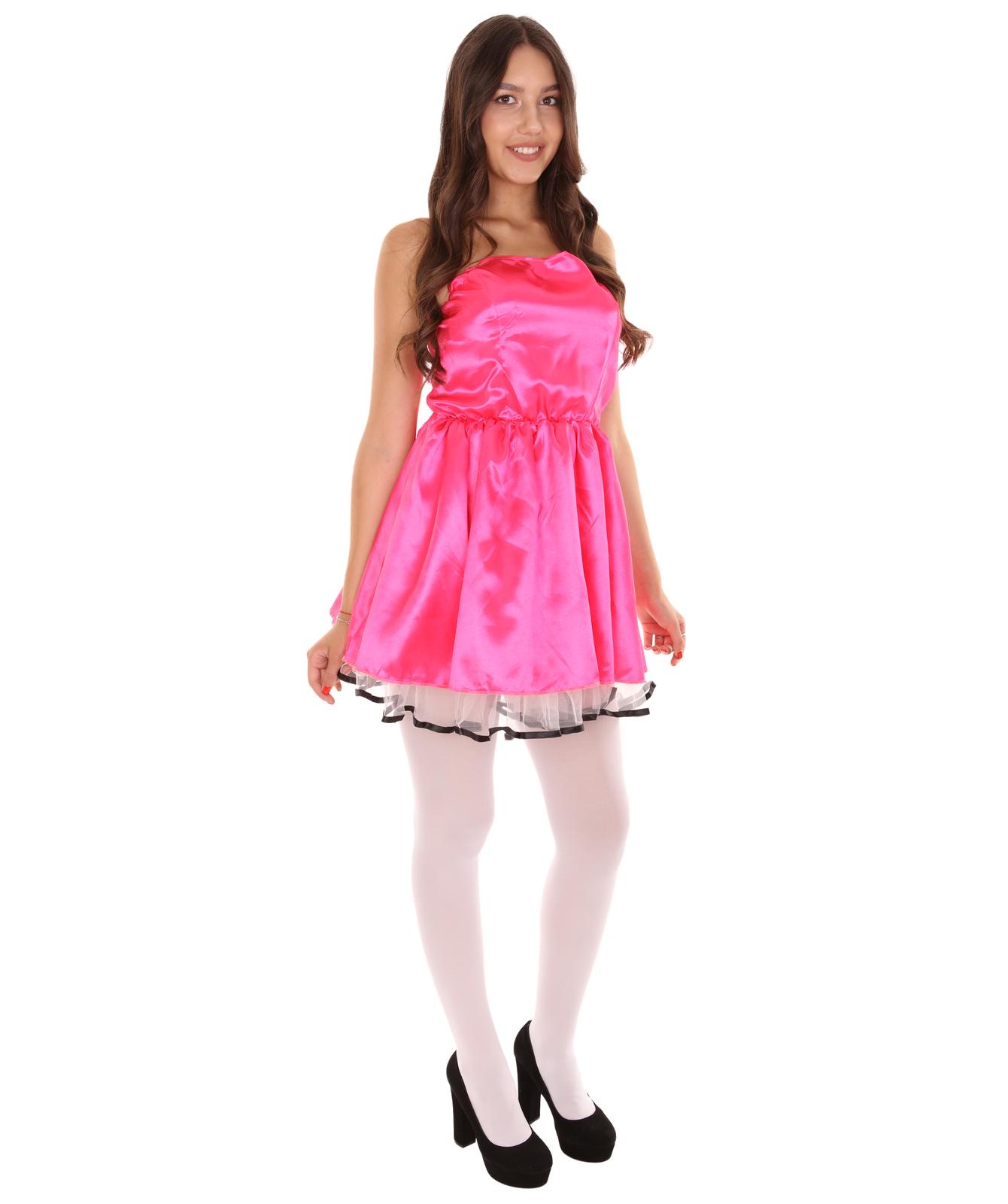 Adult Women's 50s Prom Dress Costume | Dark Pink Cosplay Costume - £29.71 GBP
