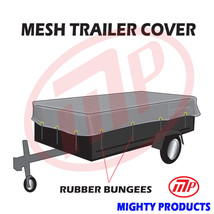 """utility trailer mesh cover with 10 pcs of 9"""" rubber bungee 6x14 (MT-TT-0... - $59.98"""