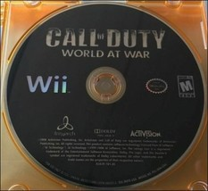 Call of Duty World at War (Nintendo Wii, 2008), Tested, Disc Only - $3.04