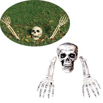 3 Piece Halloween Horror Buried Alive Skeleton Skull Garden Yard Lawn De... - €19,17 EUR