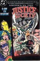 America vs The Justice Society Comic Book #4 DC Comics 1985 VFN/NEAR MIN... - $6.89