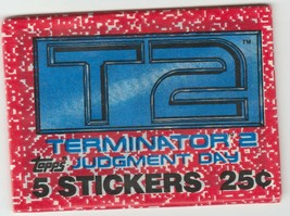 1991 Topps - T2: Terminator 2 - Judgment Day Stickers - Unopened Wax Pack - $2.97