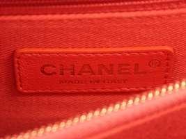 CHANEL Handbag Caviar Leather Salmon Pink CC Logo A92991 Italy Authentic 5500253 image 5
