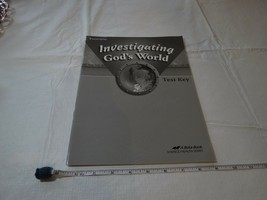 Investigating God's World test key Science Health book Beka home school ... - $10.68