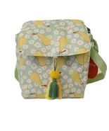 Opalhouse Fold Over Lunch Bag Pear Floral  Tassels Hook And Loop Closure... - $12.61